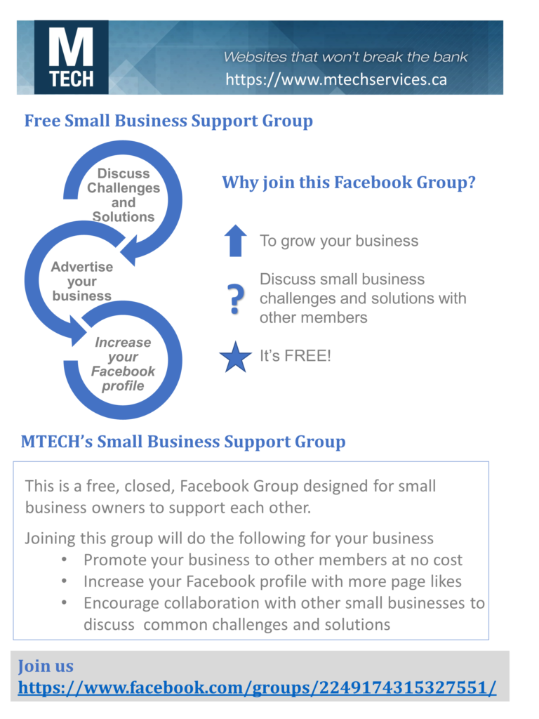 Free Small Business Support Group