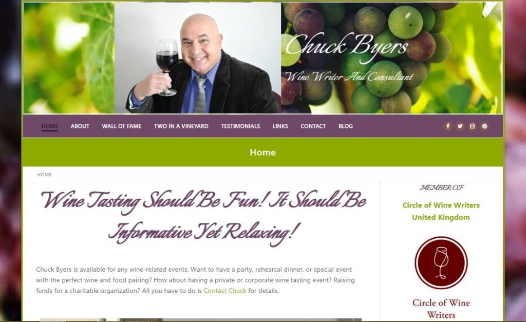 Chuck Byers Wine Writer & Consultant